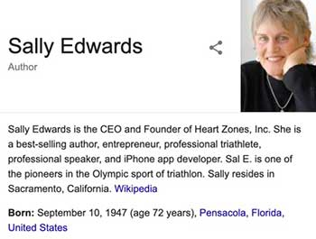 Sally Edwards - Founder and CEO of Heart Zones, sports entrepreneur and former pro triathlete.